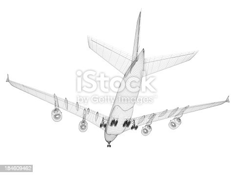 istock Airplane architecture Blueprint 184609462
