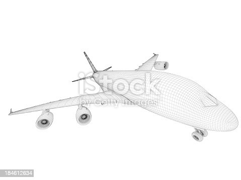 istock Airplane architecture Blueprint 184612634
