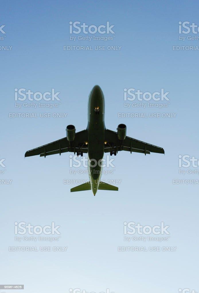 Avión en despegue del aeropuerto de Munich, Alemania - Foto de stock de Aeropuerto libre de derechos