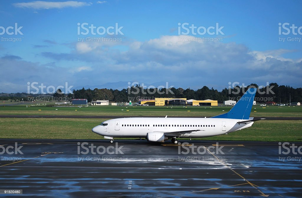 Airplane at the airport royalty-free stock photo