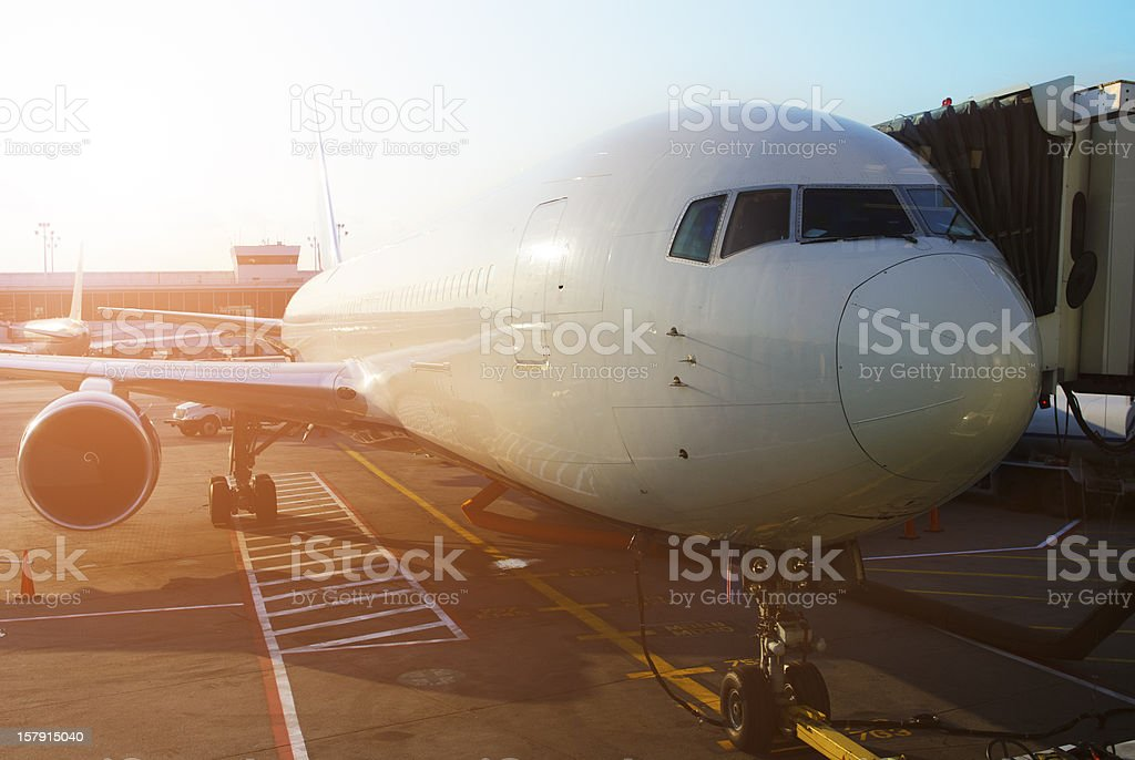 airplane at the terminal royalty-free stock photo