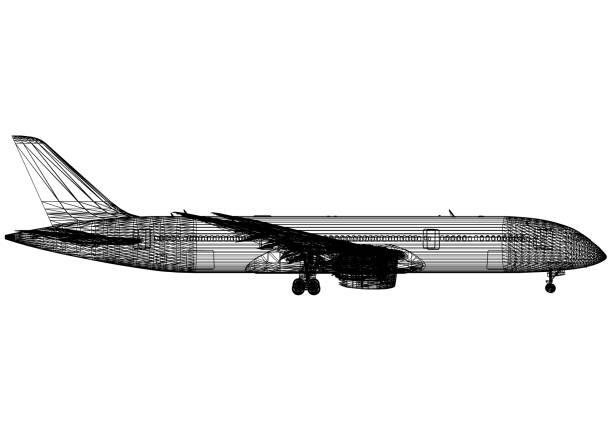 Flugzeug-Blaupause – Foto