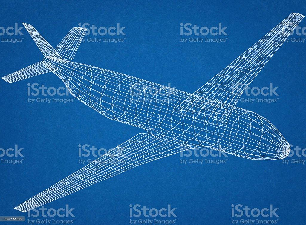 Airplane Blueprint stock photo