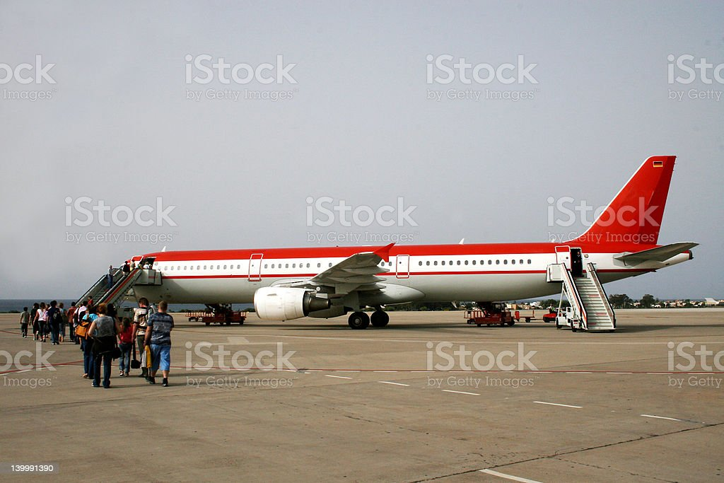 Airplane - boarding time royalty-free stock photo