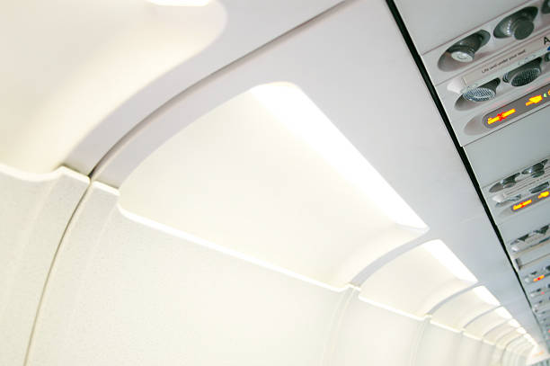 Airplane cabin 2 stock photo