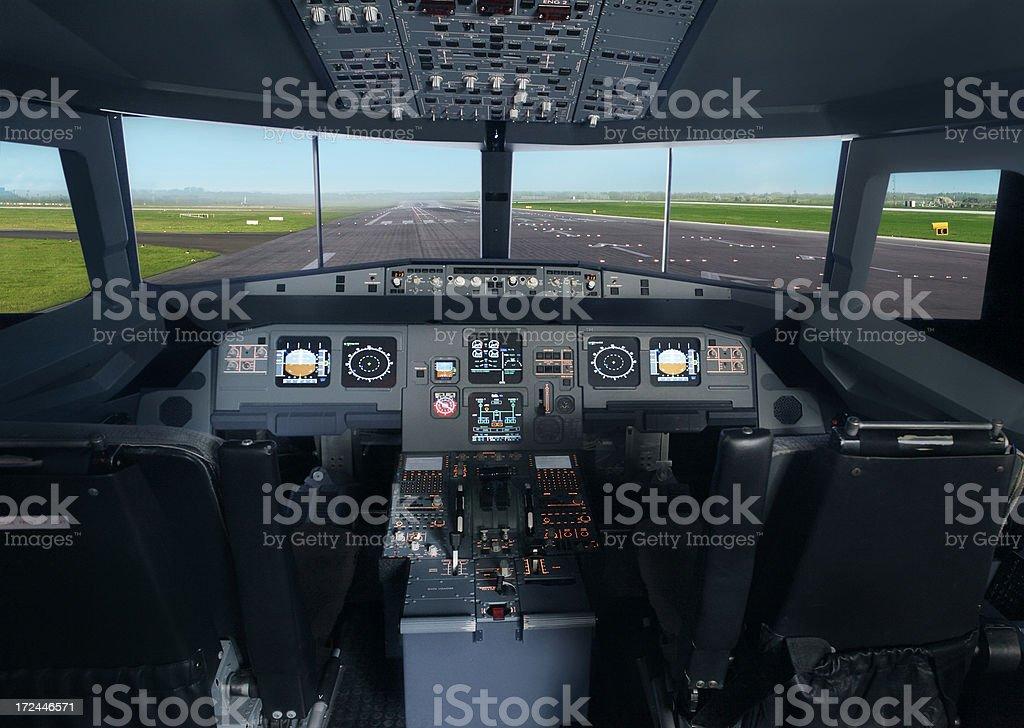 Flugzeug-Kabine innen Lizenzfreies stock-foto