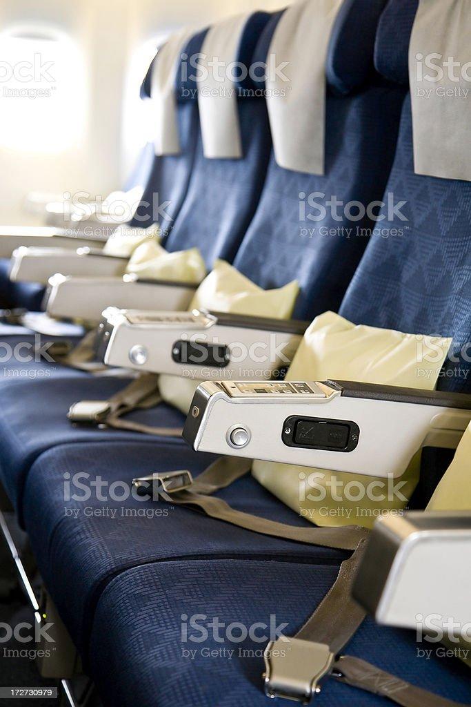 Airplane Cabin stock photo