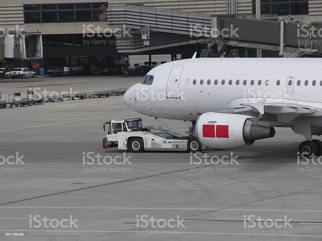 airplane + car royalty-free stock photo