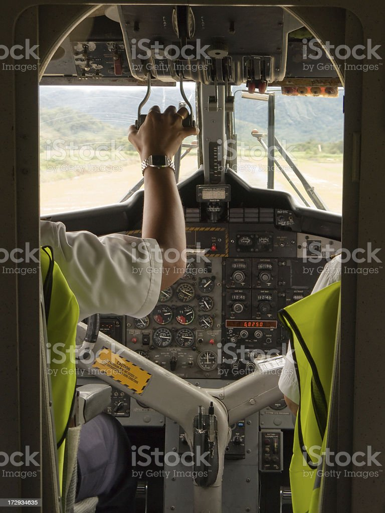 Airplane cockpit royalty-free stock photo