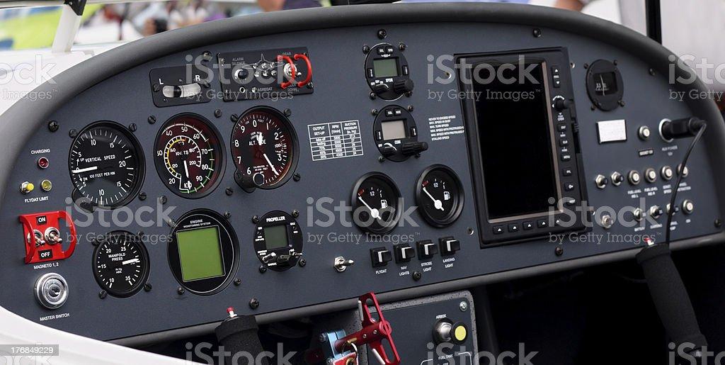 Airplane cockpit royalty-free stock photo