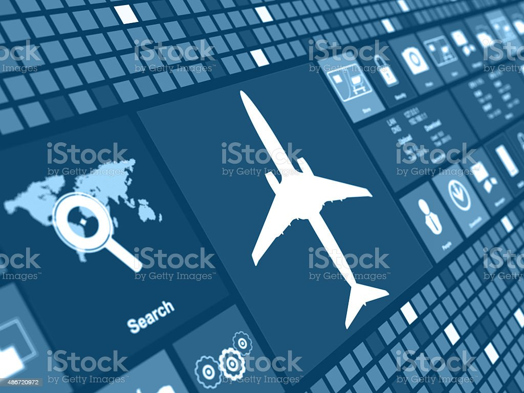 Airplane concept digital background stock photo