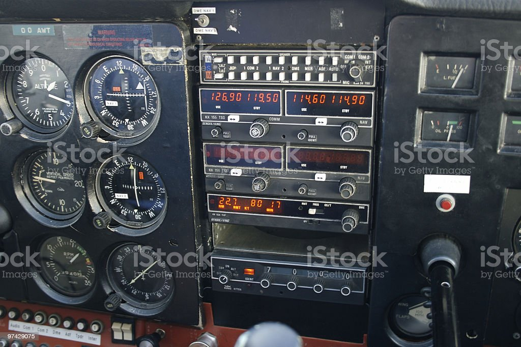 airplane controlles royalty-free stock photo