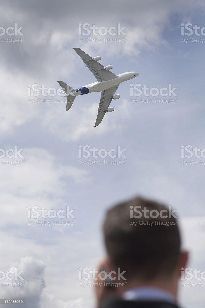 airplane decollage royalty-free stock photo