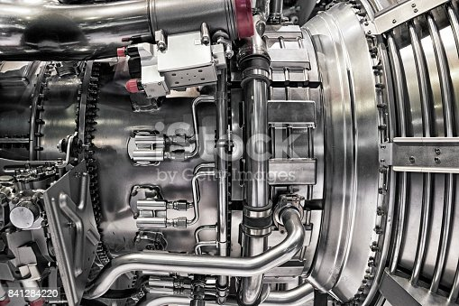 istock Airplane engine 841284220
