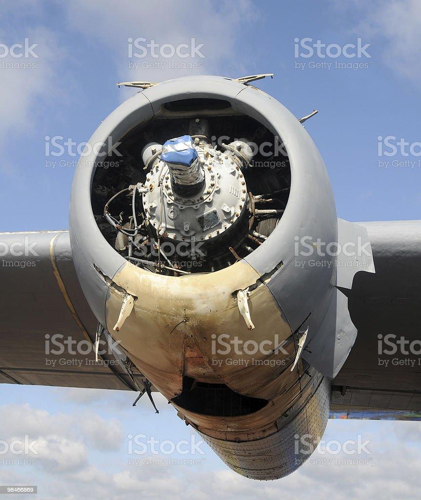 Airplane engine royalty-free stock photo