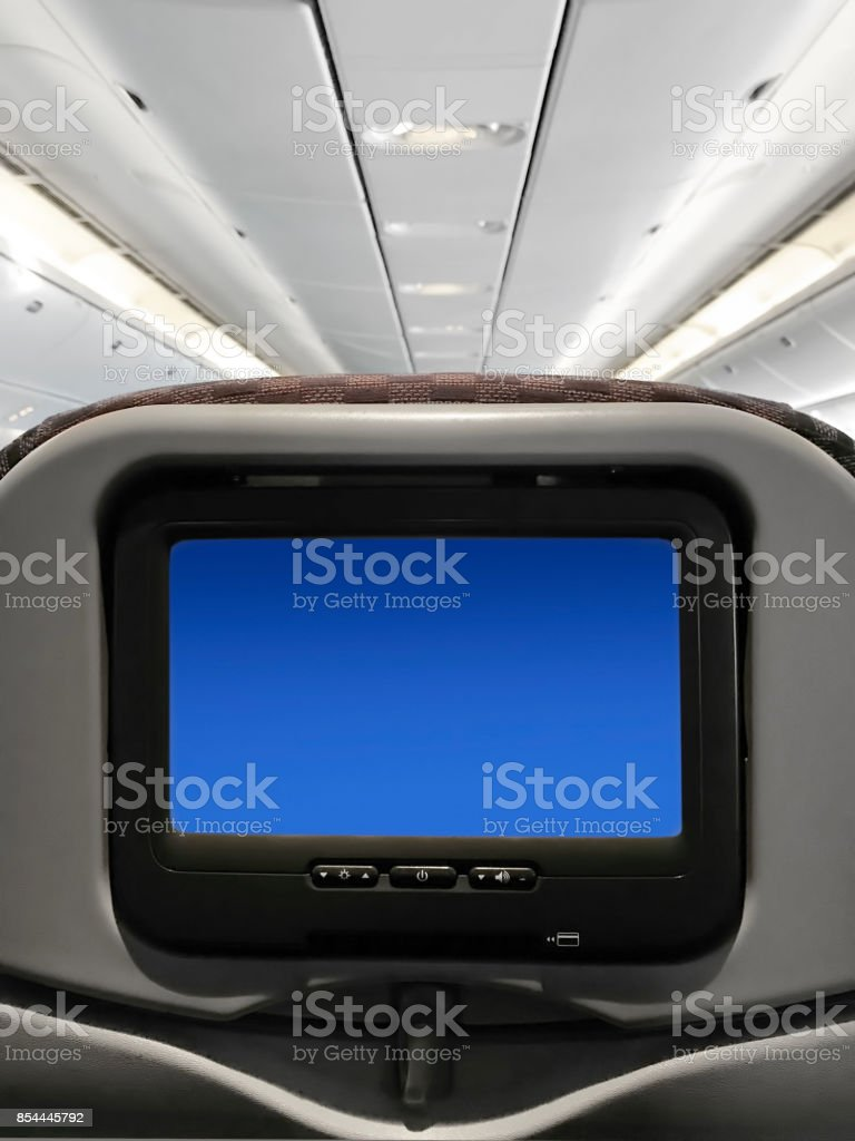 airplane entertainment stock photo