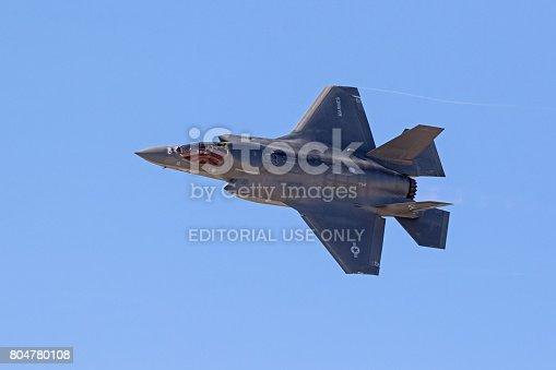 1145066973 istock photo Airplane F-35 Lightning stealth jet fighter 804780108