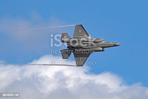 1145066973 istock photo Airplane F-35 Lightning stealth jet fighter 864695146