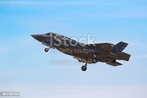 1145066973 istock photo Airplane F-35 Lightning take-off at the air show 804780428