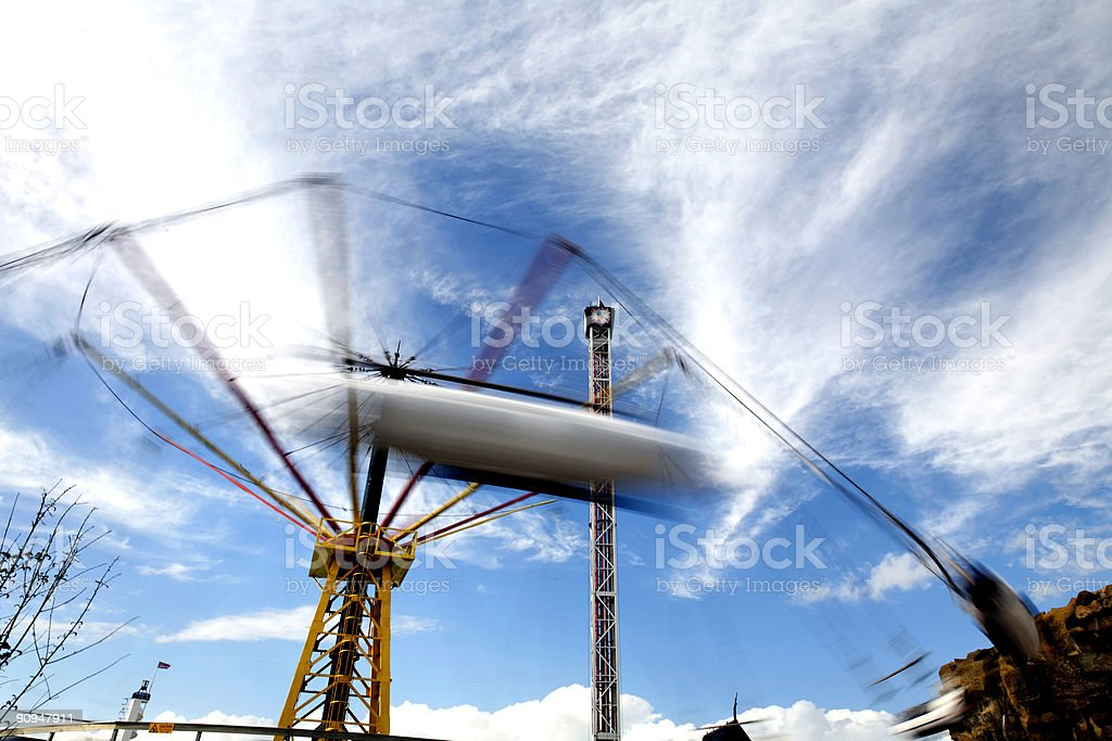 Airplane Fairground Ride-See lightbox below for other motion blurs royalty-free stock photo