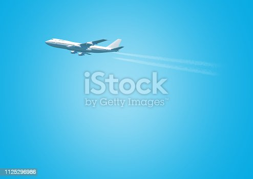 istock airplane flight concept with copy space 1125296986