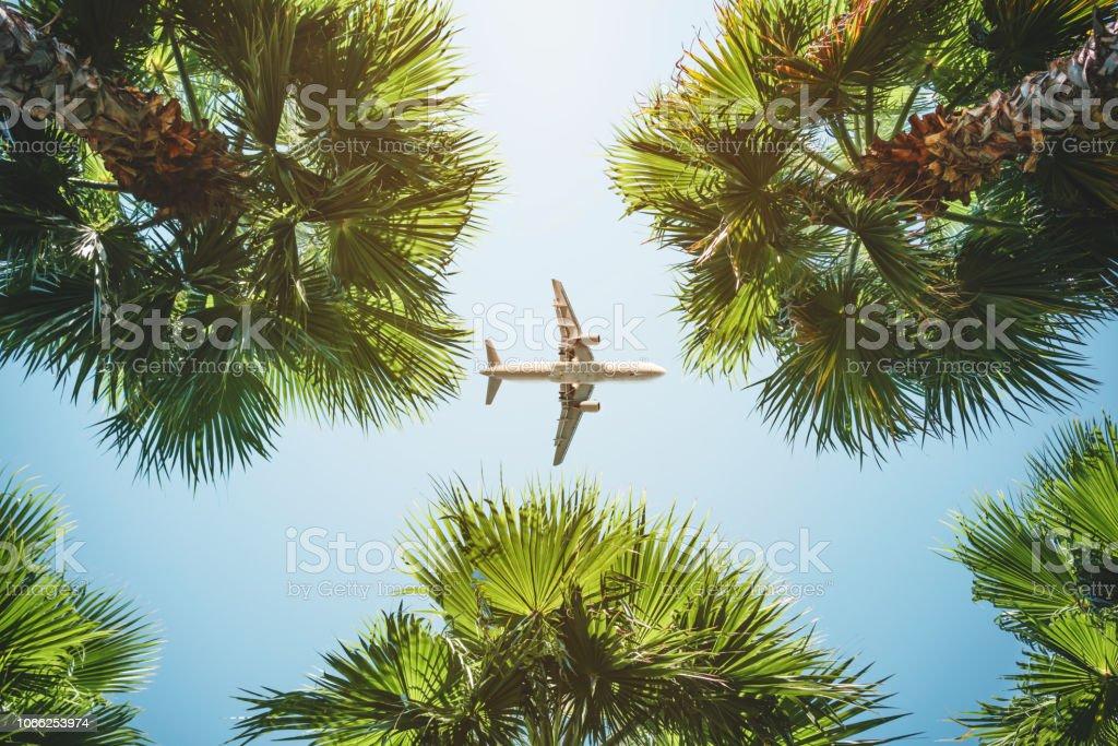 Uçak uçuş. tropikal tatil. - Royalty-free Alt Açı Görünümü Stok görsel