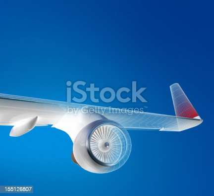 istock Airplane Flying Above The Sky 155126807