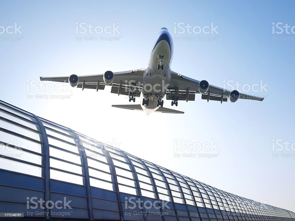 Avión flying - foto de stock