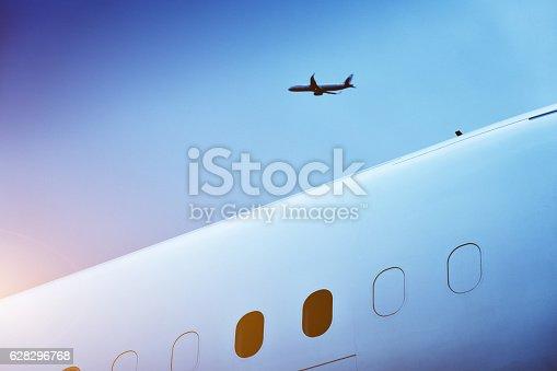 istock Airplane Flying 628296768