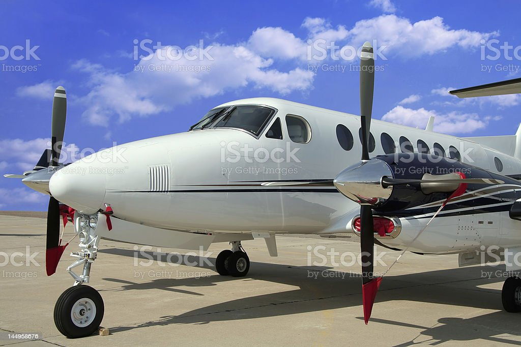 Airplane for business flights stock photo