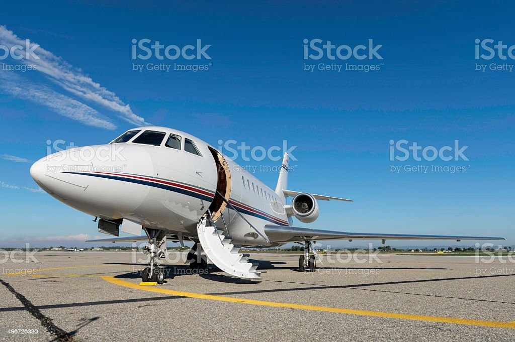 Airplane for private flights stock photo