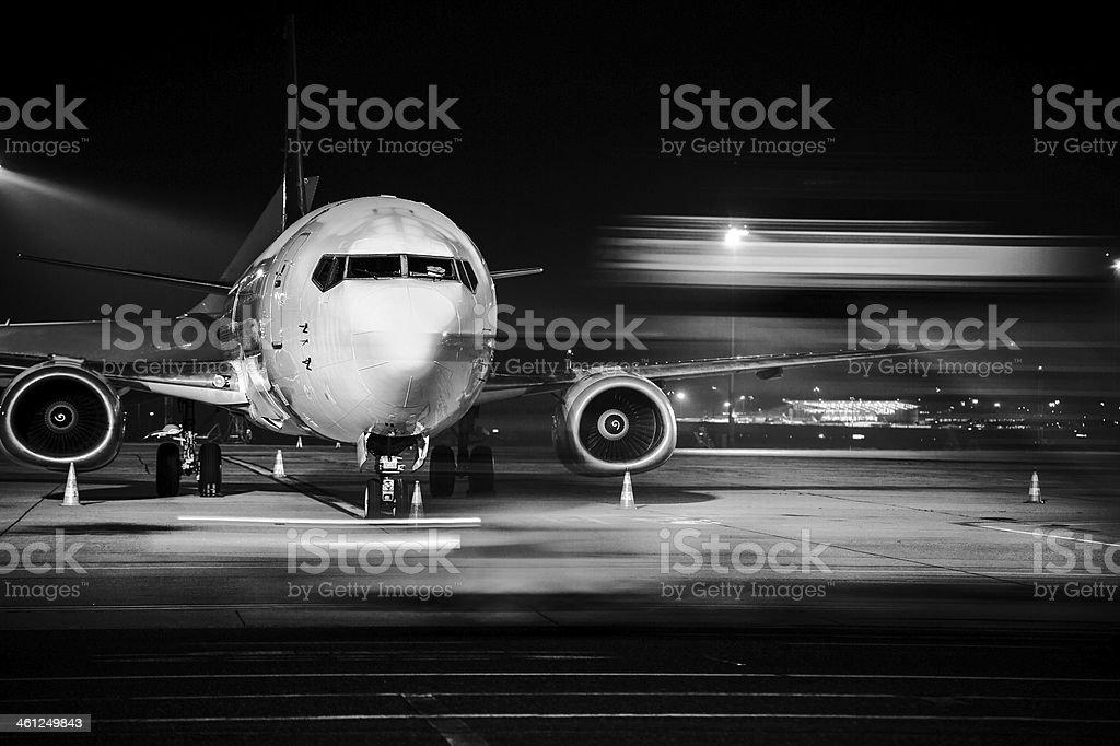 Avión primer plano de la recepción - foto de stock