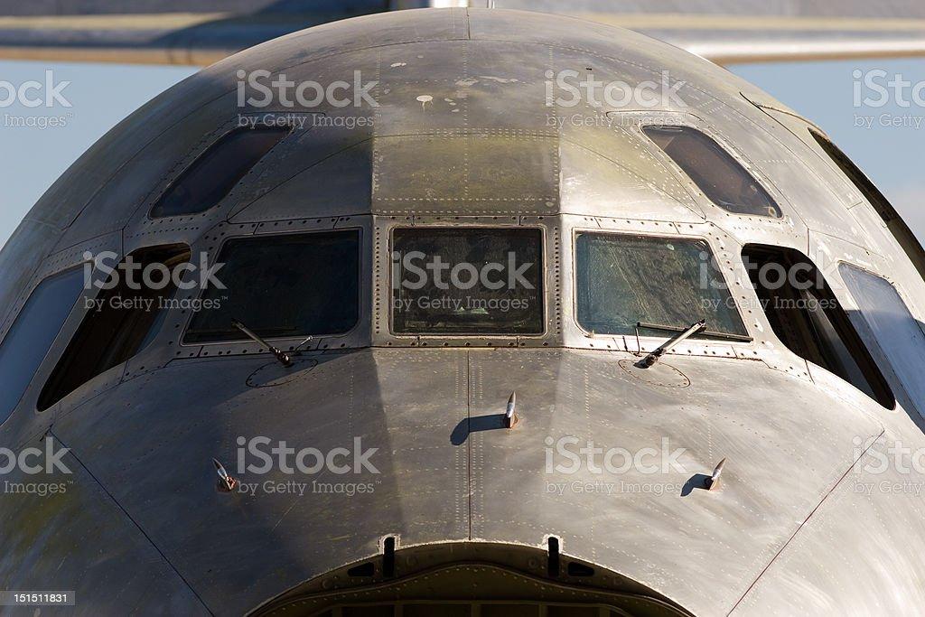 Airplane fuselage royalty-free stock photo