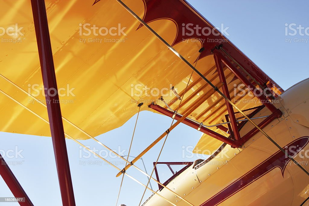 Airplane Fuselage Wing stock photo