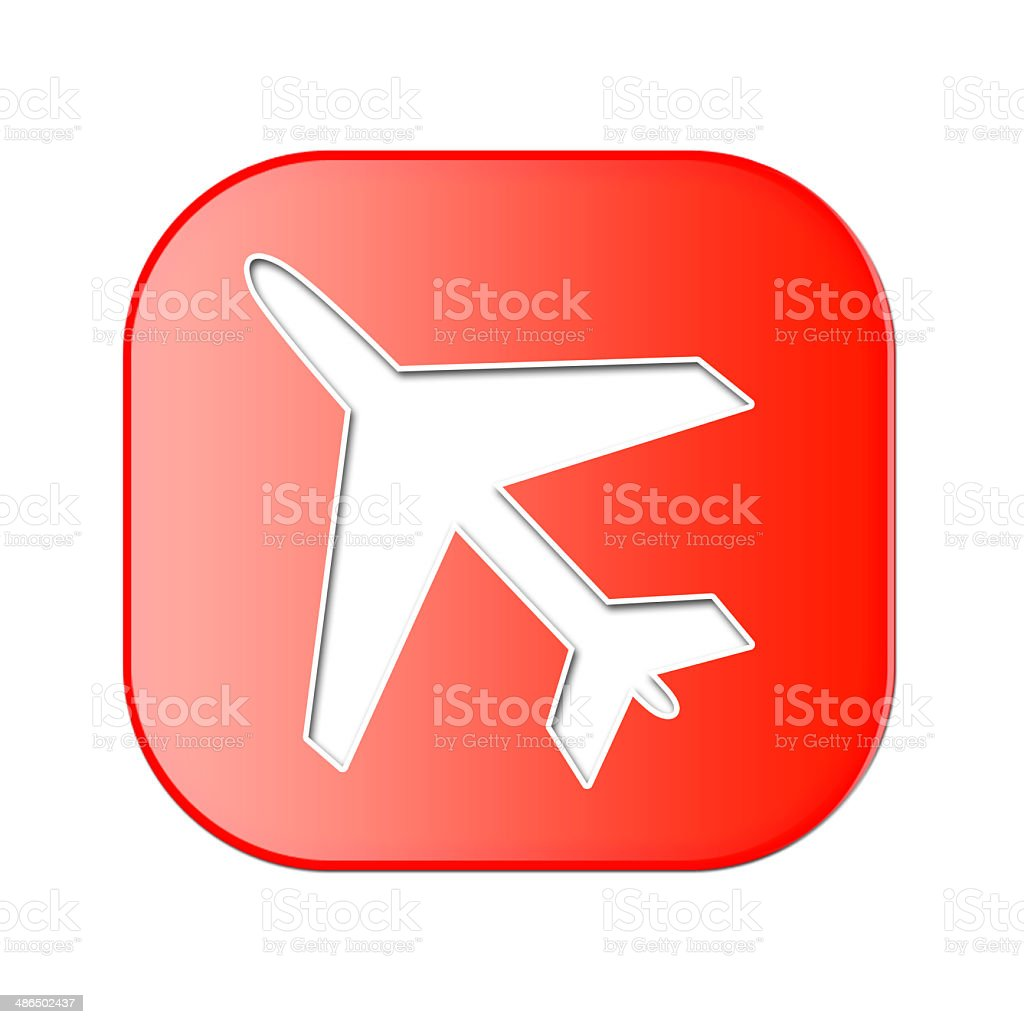 Airplane Icon stock photo