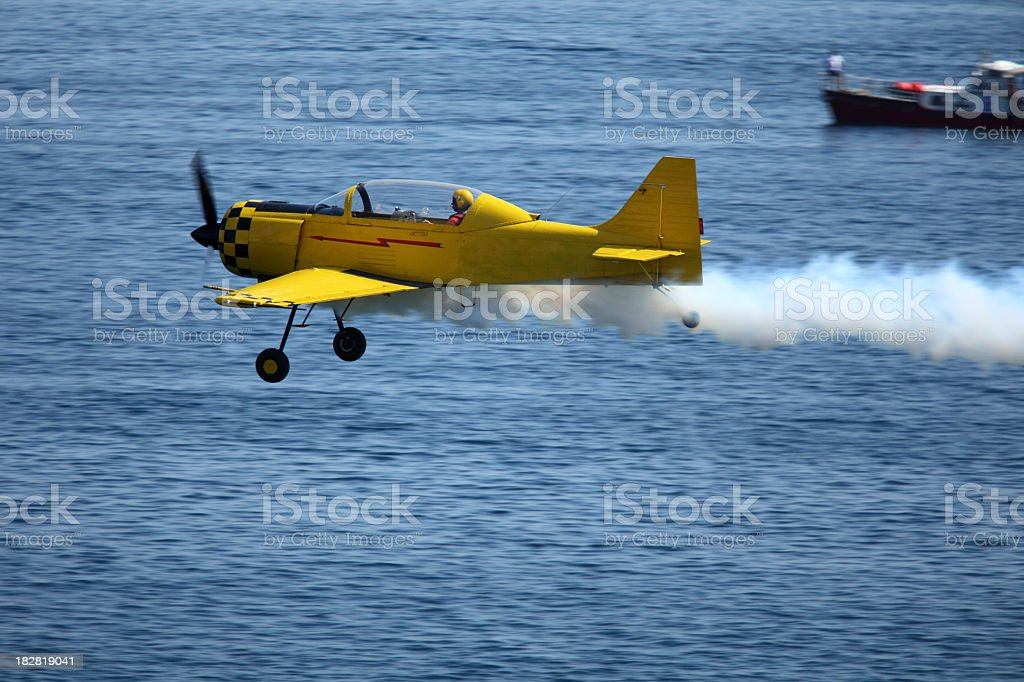 Airplane in action royalty-free stock photo