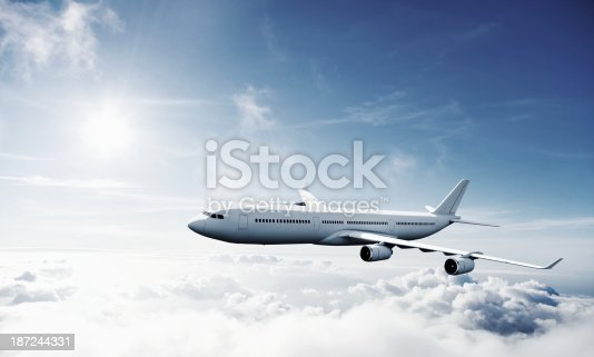 155380716 istock photo Airplane in Flight 187244331