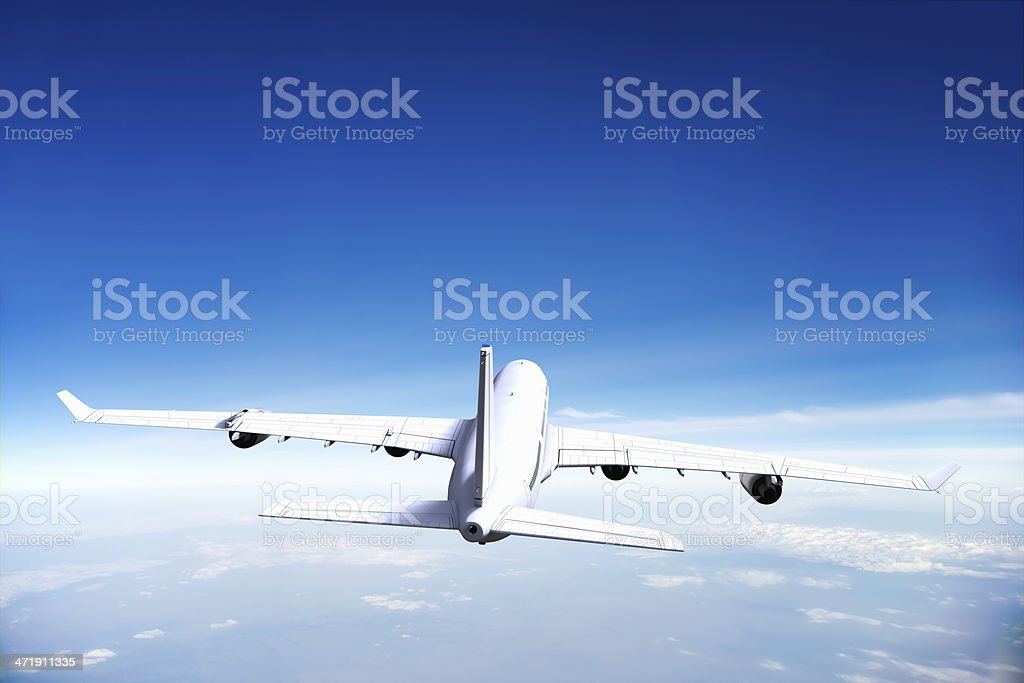Airplane in Flight royalty-free stock photo