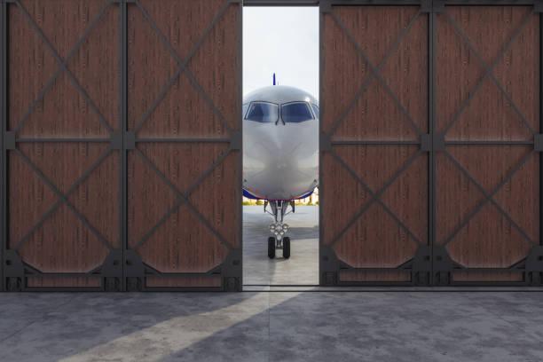Flugzeug im Hangar – Foto