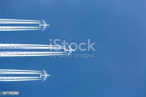 istock Airplane in the sky 467756368