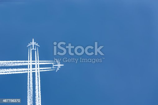 istock Airplane in the sky 467756370