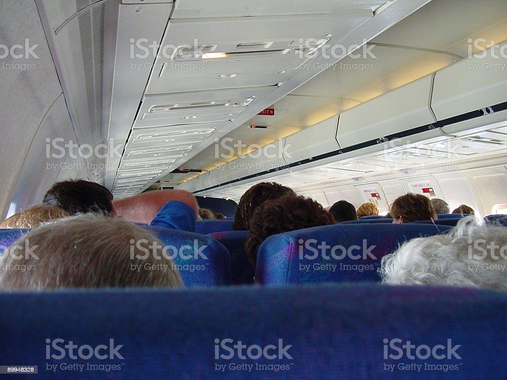 Airplane Interior Cabin royalty-free stock photo