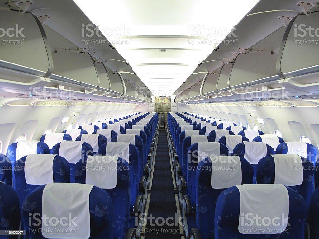 airplane interior - 免版稅Generic圖庫照片
