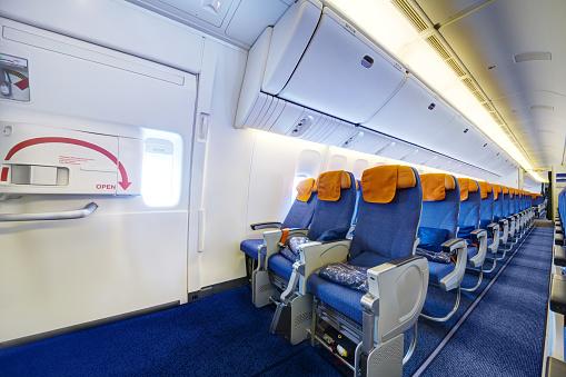 Airplane Interior Stock Photo - Download Image Now