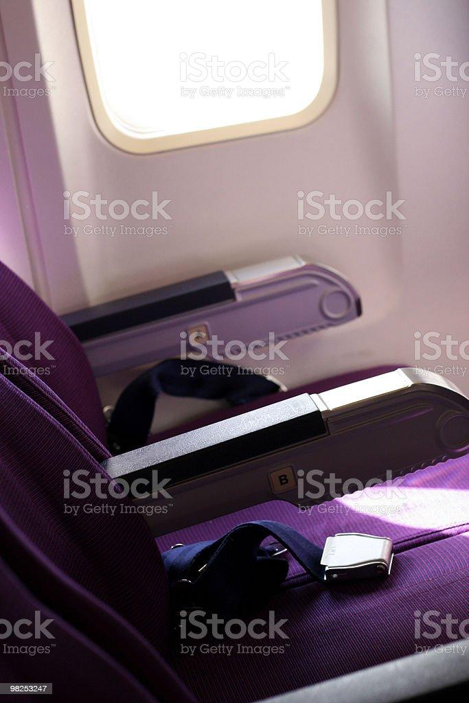 Airplane Interior royalty-free stock photo