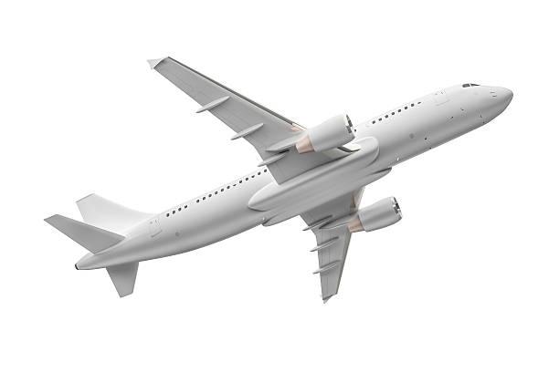 Avión aislado sobre un fondo blanco - foto de stock