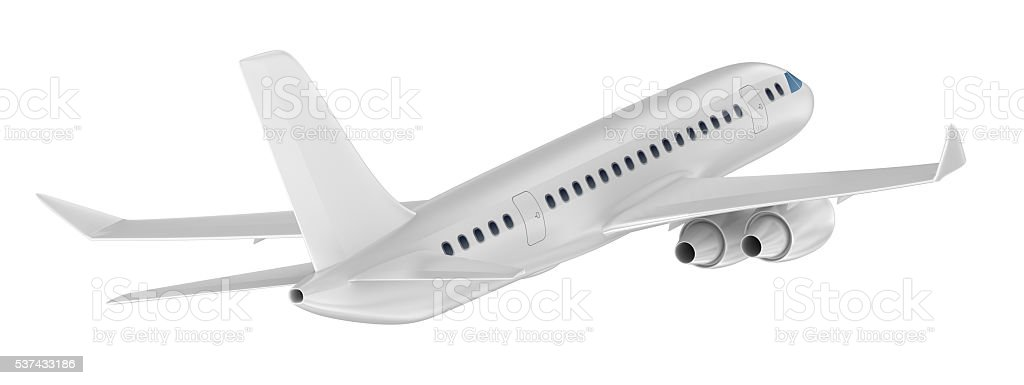 Airplane isolated on blue. My Own Design stock photo
