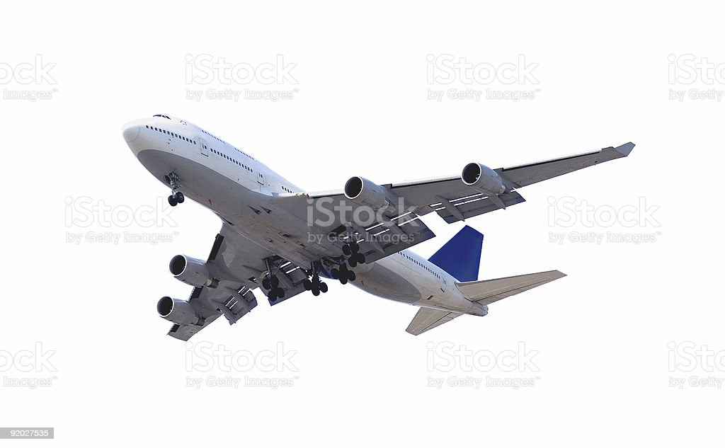 Airplane isolated on white background royalty-free stock photo