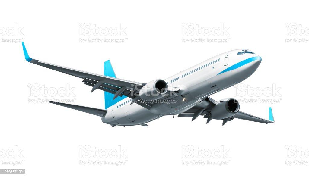 비행기 흰색 바탕에 흰색 배경 - 로열티 프리 0명 스톡 사진