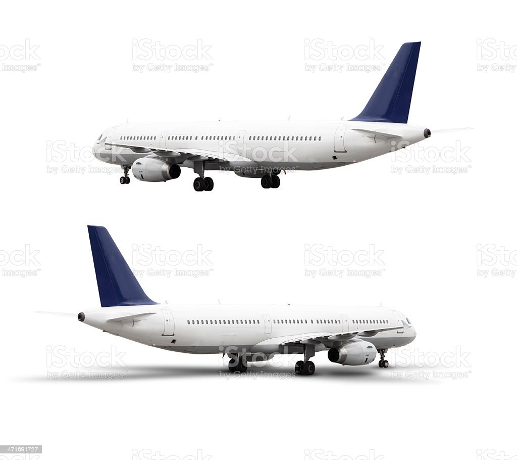 Airplane, isolated on white, with clipping path royalty-free stock photo